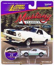 Johnny Lightning Mustang Classics #21 1977 Cobra II White 1997 MOC