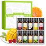 10x Oli essenziali aromaterapia frutta Profumi olio biologico puro al 100% 10ml