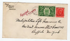 1939 Canada Cover on Stationary with SC E7, Special Delivery - Commercial Use
