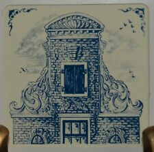 "KLM 3"" tile 1982: #10 - delft collectible tile 17th century neck gable Holland"