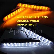 12v Universal LED DRL Daytime Running Lights + Turn Signal Indicators car van