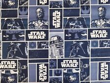 STAR WARS CHARACTER BLOCK -  100% CRAFT COTTON PRINT FABRIC - CAMELOT