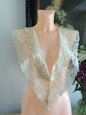 Antique 1800s Dress Insertion Collar Duchess Lace Exquisite Lappet French Crafts