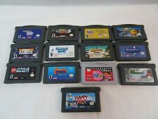 Lot of 13 Game Boy Advance GameBoy SP Games GBA Untested Parts Or Repair