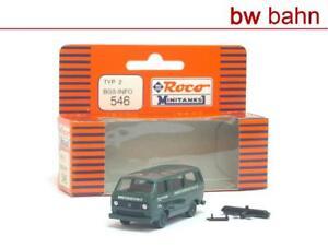 Roco Minitanks H0 546 VW Bus Type 2 Federal Border Police Info-Bus BGS Berlin
