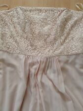 Bnwt🎀 Coast 🎀Size 16 Blush Erica Bandeau Maxi Dress, Embellished Lace Bust New