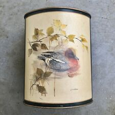 Lady Clare Waste Paper Bin Basket Duck Metal Made in England