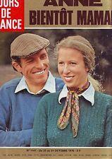 jours de france 1141 - octobre 1976 - Anne bientot maman -
