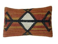 2 PC Kilim Pillow Cover Handwoven Wool Jute Cushions Bohemian Decorative Throw