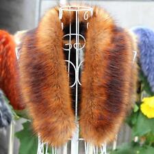2016 Fashion womens fur Collar Scarf Shawl Wrap Neck Warmer Stole Cape Xmas Gift