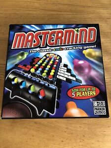 PARKER MASTERMIND CODE CRACKING BOARD GAME FOR UP TO 5 PLAYERS VGC