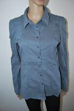 Vero Moda Bluse blau grau L 40/42 Raffungen leicht Stretch sehr guter Zustand