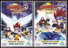 BEYBLADE 'METAL FUSION' - VOLS 1 & 2 - 168 MINS - ANIMATION - NEW SEALED R2 DVDs