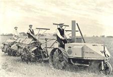 FARM MOTORS. Ivel farm Motor Hauling Two Self-Binding Reapers 1912 old print