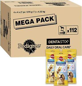 112 PEDIGREE DentaStix Daily Dental Treat Chews Small Large Medium Dog 4 x 28PK