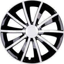 "4x Premium Diseño Tapacubos"" GRAL ""15 pulgadas #71 en blanco / Negro"