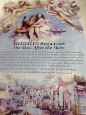 Ephemera Advert 2003 Sarastro Restaurant M1715