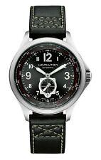 Hamilton Khaki Aviation QNE Men's Black Leather Swiss Automatic Watch H76655733