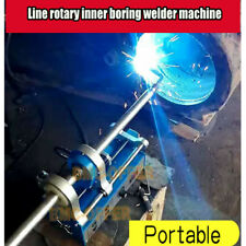 Portable line boring welding machine auto rotary inner bore weld welder New