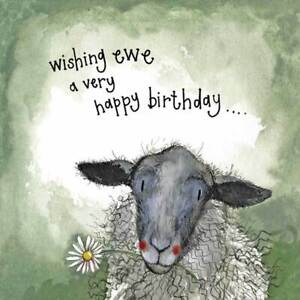 Starlight Sheep and Daisies Birthday Card - Alex Clark Large Sparkle