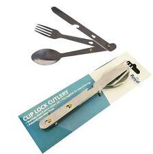 4in1 Pc Camping Picnic Festival Cutlery Set Spoon Knife Fork Bottle Opener