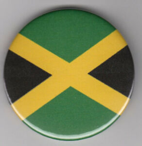 Jamaica flag badge - symbol of Jamaican heritage, Black History Month pin button