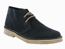 Roamers Desert 2 Eye Suede Leather Mens Unisex Classic Lace Up Boots UK4-12