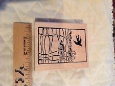 Rubber Stamp Asian Scene Fish WaterLily Sun Stamp Francisco Bird 115m