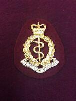 Royal Army Medical Corp Beret Flash + RAMC Bi-Metal Beret Badge RAMC Beret Badge