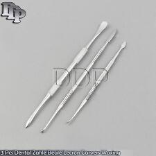 3 Pcs Dental Zahle Beale Lecron Carvers Waxing Modelling Mixing Spatula Lab Kit