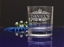 Personalised DISTILLED SPIRIT Glass CHRISTMAS BIRTHDAY WEDDING/ GIFT PRESENT24