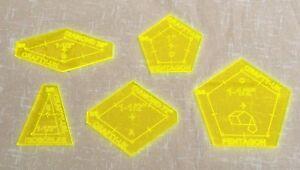 La Passacaglia Acrylic Templates set of 5