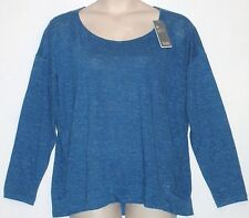 NEW WITH TAG!  EILEEN FISHER, Women's Long Sleeve Top Size 1X, MSRP $198 Blue