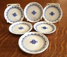 SET OF 6 HARD TO FIND FRANCISCAN CHINA DENMARK BLUE MINI 2 7/8 BUTTER PAT PLATES