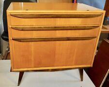 50er 60er Fifties mid CENTURY MODERN cómoda mesa de noche WK muebles bicolor