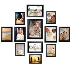 12 pcs Wall Photo Frame Set Bulk Picture Collage Frames Art DIY Home Decor Gift
