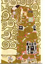 Fulfillment-Romantic Couple Embrace-Gustav Klimt Drawn Art-Beautiful Postcard