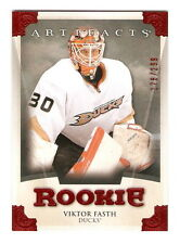 13/14 UD Artifacts Viktor Fasth Rookie Card Red Parallel RC /299