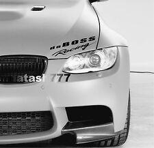 da BOSS Racing Vinyl Decal Sticker Sport Performance Car Truck SUV logo BLACK