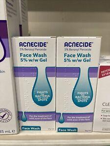 Acnecide Face Wash 5% W/w Gel - 2 X 50g gel Wash. Expiry 03/22