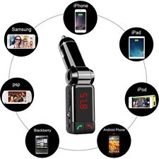 Wireless Bluetooth Auto Kit trasmettitore FM mp3 USB LCD Vivavoce per Smartphone
