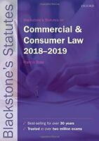 Blackstone's Statutes on Commercial & Consumer Law 2018-2 by  New Paperback Book