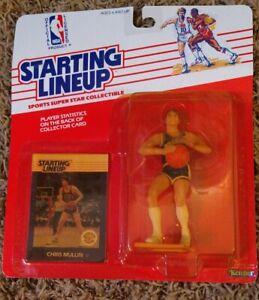 1988 Chris Mullin Golden State Warriors Rookie Starting Lineup yellow/opener