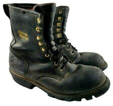 Chippewa Men's Steel Toe Leather Logger Engineer Motorcycle Boots Size 11 M