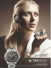 Celebs in Ads - TAG HEUER Maria Sharapova Watch Print Ad # 123 2