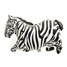 1 X Cartoon Zebra Inflatable Balloons Jungle Animal Party Props Kids Toy