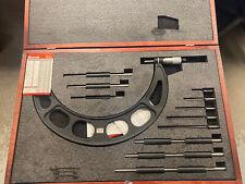 Starrett 224grlz Interchangeable Anvil Micrometer 6 12 New