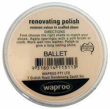 Waproo Ballet Pink Shoe Polish Cream -  Renovating Polish - Top Quility !!