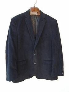 RALPH LAUREN Black Corduroy Blazer Elbow Patch Jacket Paisley Lined 46R