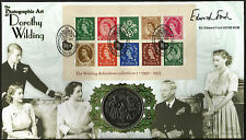 Benham 2002 Dorothy Wilding Minisheet Crown coin signé First Day Cover